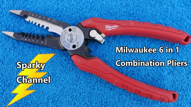 Milwaukee 6 in 1 Combination Pliers 48-22-3079 for Electrical Installations