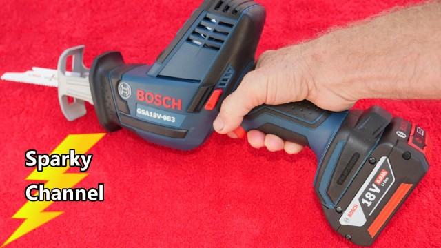 Bosch Compact Reciprocating Saw GSA18V-083 Review and Demonstration
