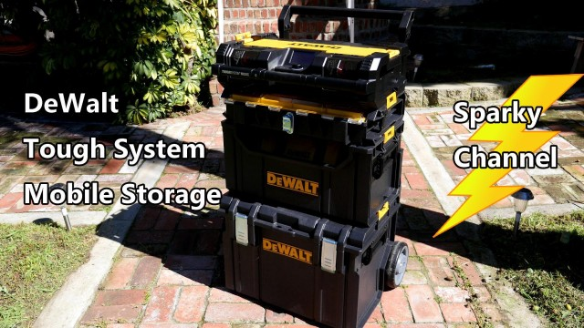 DeWalt ToughSystem Mobile Storage with Modules and Music Player