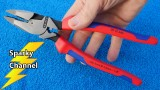 Knipex Ultra-High Leverage Lineman's Pliers with Fish Tape Puller and Crimper 09 12 240