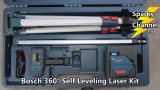 Bosch GLL 150 ECK 360° Self-Leveling Exterior Laser Kit Review and Demonstration