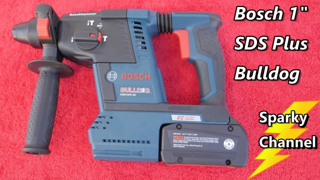 Bosch 1″ SDS Plus Bulldog Rotary Hammer Drill GBH18V-26K Review and Demonstration