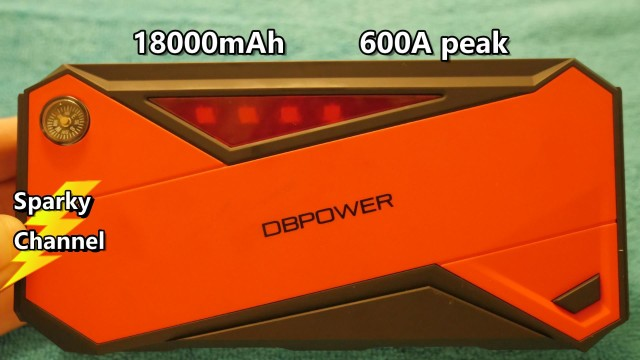 New DBPower 18000mAh 600A Peak Car Jump Starter 2017 Review and Demonstration