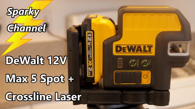 DeWalt 12V Max 5 Spot + Crossline Green Laser Level DW0825LG Review and Demonstration