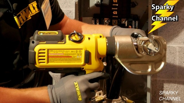 DeWalt New 20V Max Electrical Cable Crimping Tool (DCE300M2) from DeWalt Media Event 2017