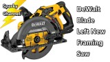 DeWalt 60V Max Flexvolt DCS577X1 Blade Left Framing Saw from Nashville Media Event 2017