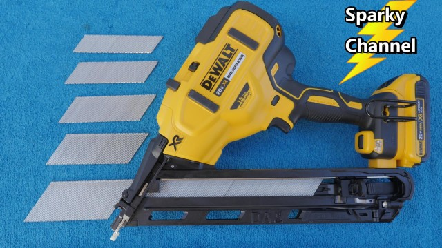 DeWalt 20V Max DCN650 Angled Finish Nailer from Nashville Media Event