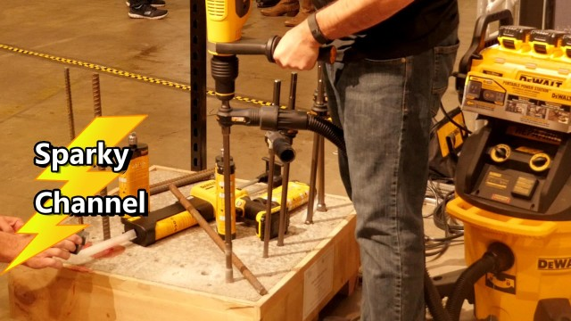 DeWalt SDS Max Hollow Concrete Bits from the DeWalt Nashville Media Event 2017