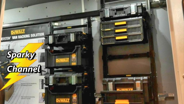 DeWalt Tough System Van Racking System New from Nashville Media Event 2017